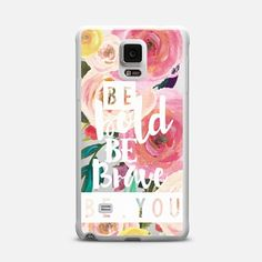 Be Bold Be Brave Be You Watercolor Floral