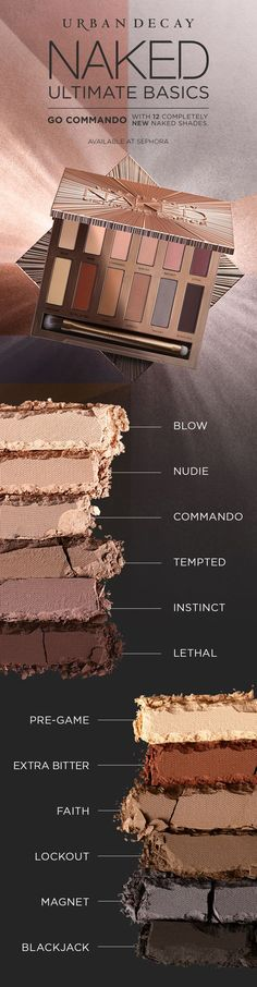 Urban Decay's Naked Ultimate Basics palette is anything but basic. Get yours at #Sephora.