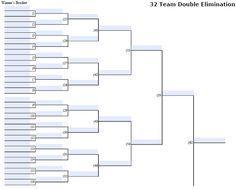 Fillable 32 Team Double Elimination