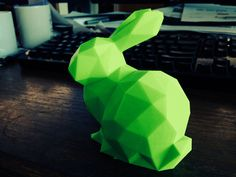 The original Stanford Bunny consisted of 69,451 polygons. Johnny6 decided that's just too many, so he cranked it down to a striking 292. That's one Low Poly Stanford Bunny! http://thingiverse.com/thing:151081