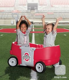 OSU Wagon for Two Plus | Ride-Ons & Wagons | by Step2. Ho0w cute is this. Wish I would have seen this when my boys were smaller.