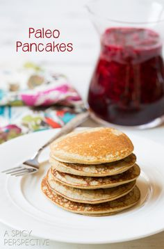 Paleo Pancakes - Easy 3-Ingredient.  Try subbing applesauce, sweet potato or pumpkin and egg replacer.
