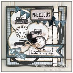 Herrekort Mariannes papirverden.: Vintage Automobiles - Pion Design Masculine Birthday Cards, Masculine Cards, Boy Cards, Scrapbooking, Marianne Design, Paper Cards, Vintage Cards, Cardmaking, Handmade