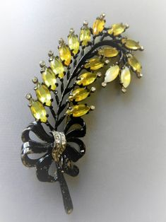 Items similar to Dramatic Vintage Black Japanned Metal huge Brooch with unfoiled stones and Clear Rhinestones - on Etsy Rhinestone Art, Vintage Black, Rhinestones, Brooch, Trending Outfits, Unique Jewelry, Handmade Gifts, Metal, Kid Craft Gifts
