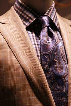 Paisley tie & checked shirt.