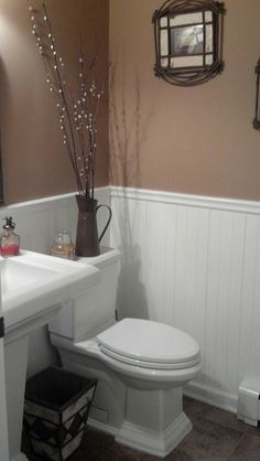 My Adirondack inspired bathroom