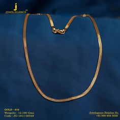 Gold 916 Premium Design Get in touch with us on Mens Gold Chain Necklace, Mens Gold Bracelets, Mens Gold Jewelry, Gold Chain With Pendant, Gold Jewelry Simple, Gold Rings Jewelry, Gold Chain Indian, Bridal Bangles, Bridal Jewellery