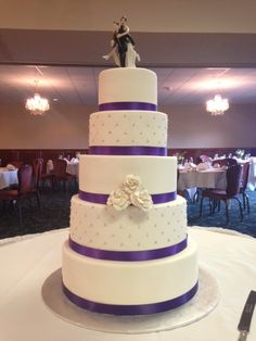 Custom Five Tier Wedding Cake Made By Creations In Rockford Il