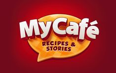 The joint project of Melsoft and Wargaming for redesigning the My Café game style. Bg Design, Game Logo Design, Heading Design, Cafe Logo, Creative Artwork, Text Style, Logo Food, Text Effects, Logo Concept