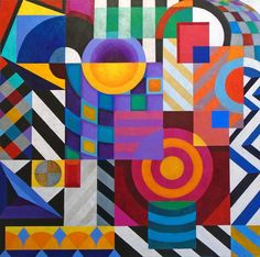 Buy COMPOSITION - GEOMETRIC OVE..., Acrylic painting by Stephen Conroy on Artfinder.