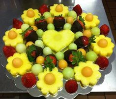 Colorful fruit platter