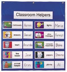 This site allows you to print out ready-made classroom job signs.