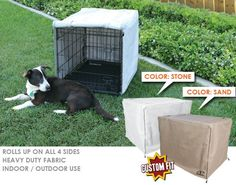 """AP Crate Cover Fits Midwest Life Stages® Ultima 3 Door 1600 UL crates 48"""" X 30"""" X 33"""" - Sand-Beige Color - http://www.thepuppy.org/ap-crate-cover-fits-midwest-life-stages-ultima-3-door-1600-ul-crates-48-x-30-x-33-sand-beige-color/"""