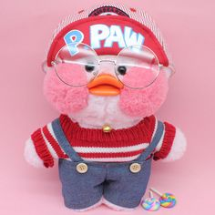 Cafe mimi duck stuffed animals, cute cafe mimi duck plush animals are in styles wearing things like, heart sharp glasses, unicorn headband, free gift. Mochi, Cute Ducklings, Pet Ducks, Duck Toy, Pink Rabbit, Cute Stuffed Animals, Kids Toys, Children's Toys, Toys Online