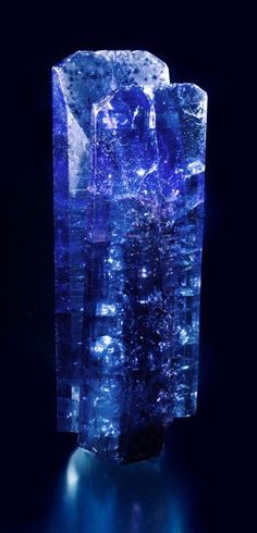 Tanzanite crystal, 7.2 x 2.5 x 1.5 cm. The weight is 330 carats! Price available upon request. (Photo: Mia Dixon)
