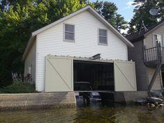 New boat house doors