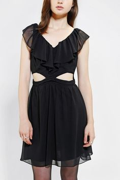 Pins And Needles Flutter-Sleeve Cutout Dress #urbanoutfitters