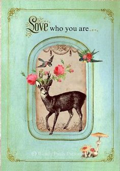 heavenishere:    french-knot:    happythings:    id0be1ieve: WoodlandLove who you are Deer Note Card Set by mulberrymuse
