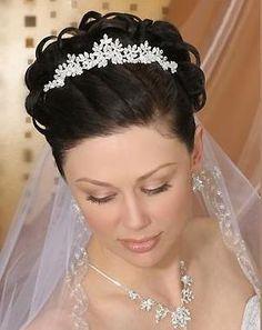 peinados novia velo