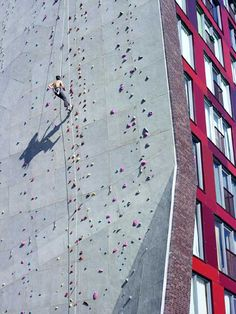 Student Housing with climbing Wall at the University of Twente