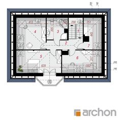 Projekt domu Dom w awokado - ARCHON+ House Construction Plan, Modern Bungalow House, Facade House, Design Case, House Plans, Floor Plans, House Design, How To Plan, House Styles