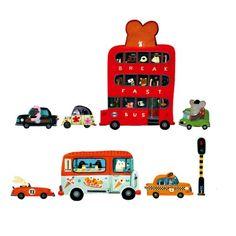 Stickers géants véhicules Téo Djeco pour enfant de 5 ans à 10 ans - Oxybul éveil et jeux