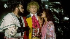 Brian Blessed and Colin Baker on the same set. I bet that was a very loud shoot. First Doctor, Good Doctor, Brian Blessed, Dr Who Companions, Colin Baker, Sci Fi Tv Shows, Doctor Who Tardis, Bbc One, Torchwood