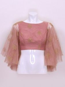 Shop Peach color designer cotton silk fabric ready made blouse online from G3fashion India. Brand - G3, Product code - G3-RB0690, Price - 6699, Color - Pink, Fabric - Cotton Silk,