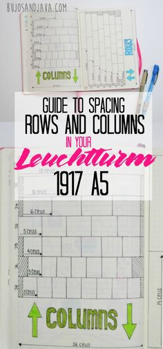 This in-depth tutorial, with a photo guide will help you space rows and columns evenly in your Leuchtturm1917 A5 bullet journal.