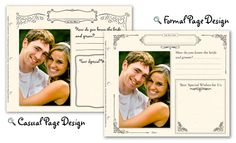 Guestbook Store... seriously cute! Make your own guestbook scrapbook