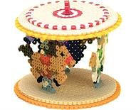 -D Carousel Designed By The Perler Design Team Remember those great days at the local fair or theme park? Riding the carousel was the BEST! Now you can create your own carousel of horses with Perler Beads!