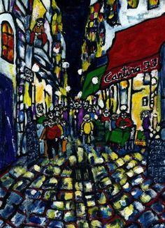 """Saatchi Art Artist CARMEN LUNA; Painting, """"30-URBANOS. Paris."""" #art"""