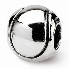 Sterling Silver Kids Tennis Ball Bead