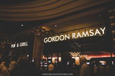 Gordon Ramsay Pub & Grill Las Vegas NV   After visiting the Hoover Dam we decided to go to Las Vegas! It was only a 40 minute drive. I won't bore you with the details but it was a hot day at the Hoover Dam and an even hotter day in Vegas (Guess that's what happens when you visit the desert in June) So after gambling a bit we decided talk walk over to Caesar's Palace and check out what they had there. By the time we made it into Caesar's palace we were starving. There is no shortage of…