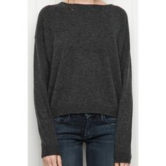 Thom Sweater ($48) via Polyvore featuring tops, sweaters, gray sweater, grey sweater, cashmere tops, grey cashmere sweater and grey top