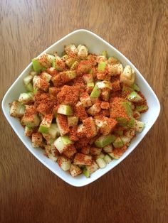 We like our Tajin sprinkled with our green apple  Pic by @twerick.