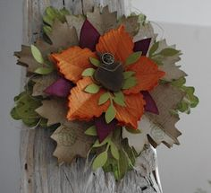 Fall gift box topper using the new Autumn Accents bigz die