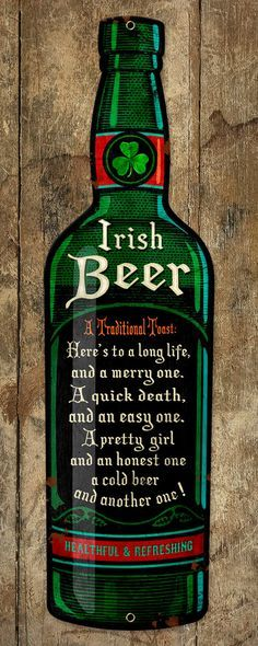 Metal Beer Bottle Shaped Pub Sign 6x23 FREE by ArtHouseGraffiti, $75.00