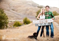 outdoor. check, laid back clothes. check, pretty labrador....got a golden retriever that is a must in my save the date!