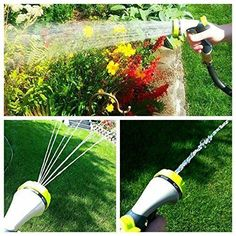 High Pressure Hand Sprayer Washing Garden Hose Nozzle 8 Pattern Metal Water Lawn #HOMWE