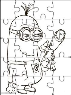 Printable Jigsaw Puzzles To Cut Out For Kids Minions 9