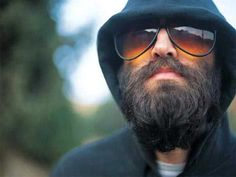 Mark Oliver Everett of EELS, band that is all bearded. Such an amazing beard. Wish I could see the rest of his face.