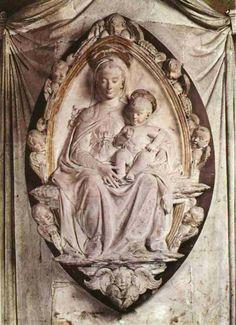 Madonna con il bambino Santa Croce Firenze. Donatello