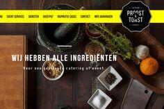 Website voor catering en events by Proost & Toast