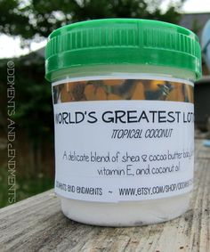 World's Greatest Lotion Tropical Coconut 3 by OddmentsandEndments, $6.00 Donated sample lotions to the FFCS for swag bags! https://www.etsy.com/shop/OddmentsandEndments