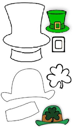 A Leprechaun hat can have different shapes and sizes. There are two different desi … – Find Your St Patrick's Day Activities March Crafts, St Patrick's Day Crafts, Preschool Crafts, St Patrick Day Activities, Free Activities For Kids, Sant Patrick, Bing Bilder, St Patricks Day Cards, St Patricks Day Hat