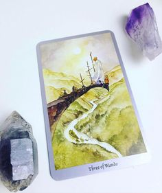 Daily #Tarot Reading for July 12: Three of Wands #Adventure beckons when we encounter the Three of Wands in the Tarot. A figure stands on the edge of a cliff with his eyes on the distant #horizon  from this vantage he can see the #challenges and gifts that lay ahead and plan his route accordingly. Around him he has planted three Wands symbolizing his commitment to this new (ad)venture that is just beginning. Ships traverse the wide ocean below him delivering people and exotic treasures to…