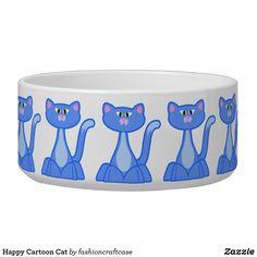 Happy Cartoon, Types Of Animals, Animal Fashion, Dog Bowtie, Pet Gifts, Animal Design, Ceramic Bowls, Cat Bowl, Keep It Cleaner