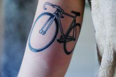 bicycle tattoo like whattt thats cool Future Tattoos, New Tattoos, Cool Tattoos, Sweet Tattoos, Tatoos, Bicycle Tattoo, Bike Tattoos, Delicate Tattoo, Skin Art