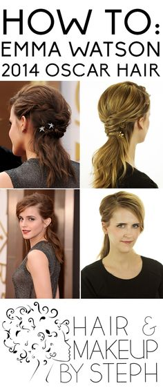 Learn how to re-create Emma Watson's hairstyle from this year's Oscars